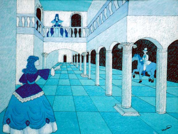 Monica M., One Point Perspective, Grade-7