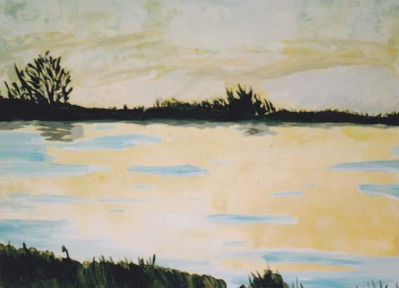 Samantha K., Watercolor Landscape, Grade-8
