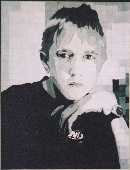 Sean N., Self Portrait, Grade 7
