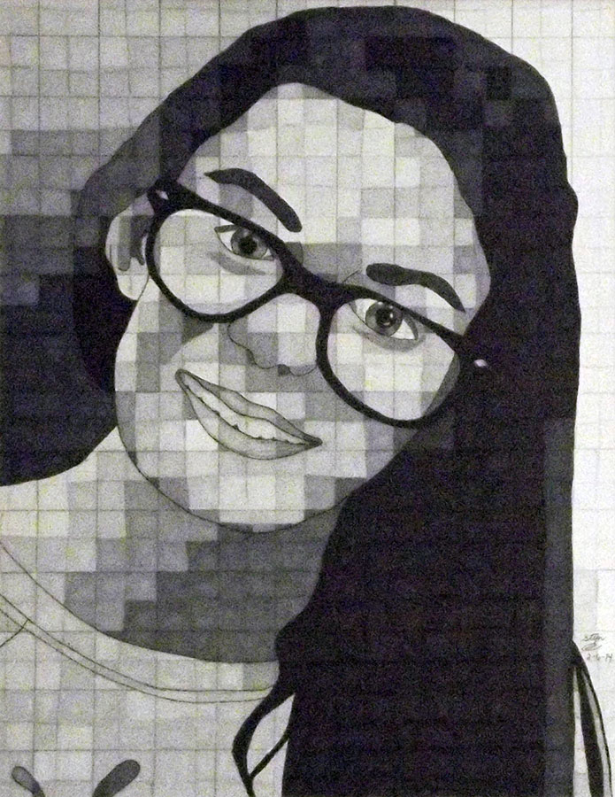 Stephanie S., Self-Portrait, Grade 7
